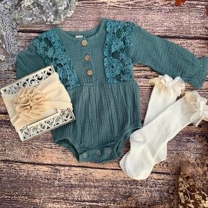 Boutique Baby Ruffle Romper